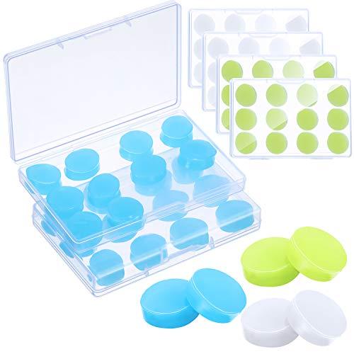 36 Paare Gel Ohrstöpsel Wiederverwendbare Silikon Ohrstöpsel Wasserdichte Ohrstöpsel Geräuschunterdrückung Ohrstöpsel für Erwachsene Kinder Ohrstöpsel für Schwimmen (Weiß, Blau, Grün)