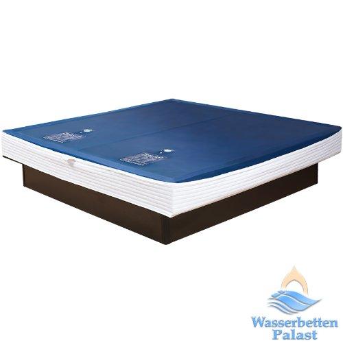 2xPremium Comfort Wasserkern inkl. Liner/Schutzfolie - Erneuerungsset für Wasserbett/Wasserbettmatratze Größe 200x220 cm Dual - Softside-Umrandung: innen keilförmig 20-23 cm - Beruhigung 90% / F6