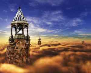Klartraum: fantasie über den Wolken