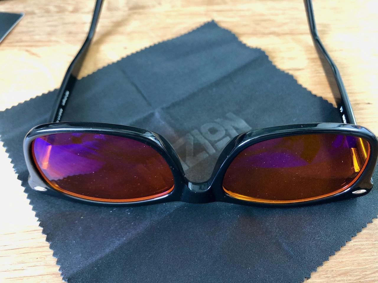 Wizion Blaulichtfilter Brille mit Putztuch